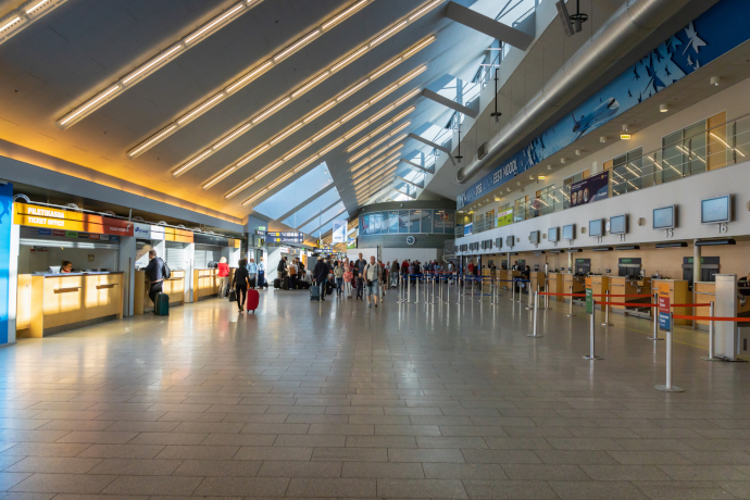 Tallinn Airport has a single passenger terminal.